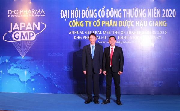 Đại diện Ban Tổng Giám đốc DHG tại Đại hồi đồng cổ đông thường niên năm 2020.