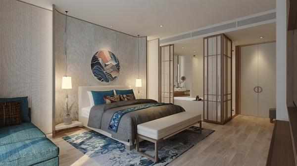 Căn hộ Ocean Suite được thiết kế theo phong cách tối giản