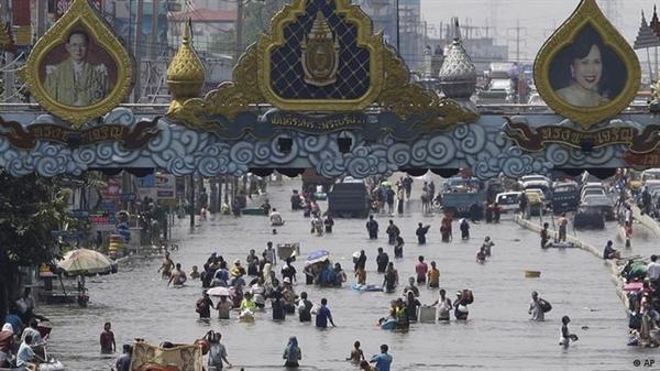 Bangkok trong trận lụt 2011. Ảnh: AP.