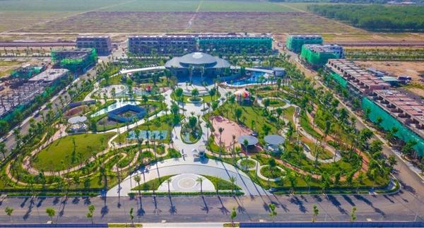 Diện mạo của khu đô thị đa chức năng hiện đại bậc nhất khu vực Long Thành - Gem Sky World đang ngày một hoàn thiện. (Hình thực tế tháng 5/2021)