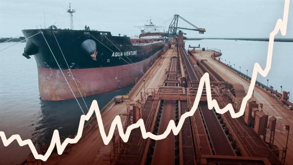Sự bùng nổ hàng hóa đẩy chi phí vận chuyển hàng loạt lên mức cao nhất trong thập kỷ. Ảnh: Financial Times.