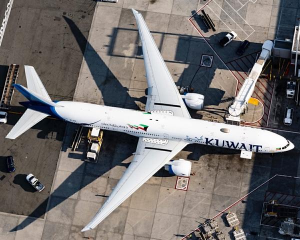 Máy bay tầm xa chính của Kuwait Airways hiện tại là Boeing 777. Đây là máy bay phản lực nhỏ nhất thuộc dòng Airbus A320. Ảnh: JFKJets.
