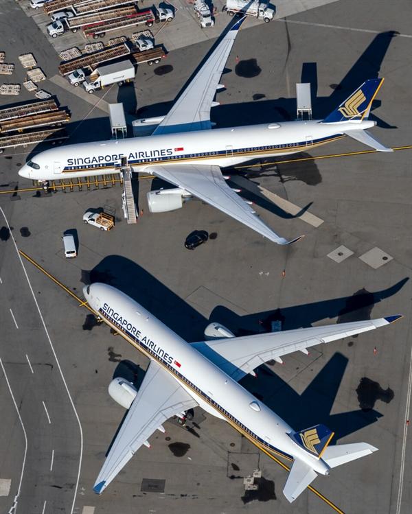 Trong năm 2020, Singapore Airlines gần như ngừng hoạt động do chính phủ nước này cấm các chuyến bay quốc tế đến, bao gồm cả hành khách trung chuyển. Ảnh:  JFKJets.
