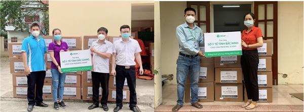 3.000 Thuốc súc miệng họng Medoral và Nước biển sâu Xisat được Tập đoàn MERAP trao tận tay cho Sở Y Tế Tỉnh Bắc Giang & Sở Y Tế Tỉnh Bắc Ninh.