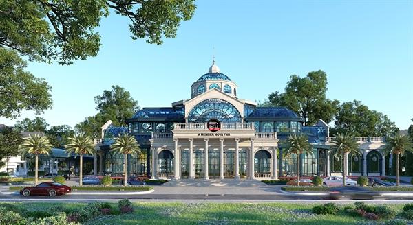 Cà phê nhà kính mang thương hiệu Phindeli là công trình kiến trúc độc đáo tạo điểm nhấn ấn tượng cho Aqua Marina.