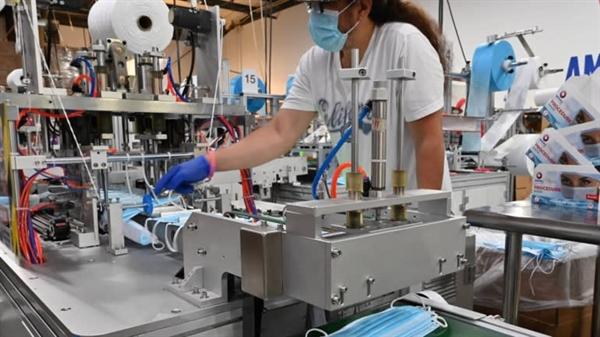Nhà máy ở Virginia Beach của Premium-PPE: Công ty đã sản xuất hàng chục triệu chiếc khẩu trang mỗi tháng vào thời kỳ đỉnh cao. Ảnh: Nikkei Asian Review.