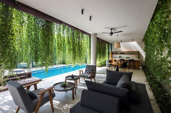 Sự khác biệt trong ngôn ngữ kiến trúc xanh và thân thiện với thiên nhiên là điểm nhấn của Wyndham Phú Quốc. Ảnh: TL.