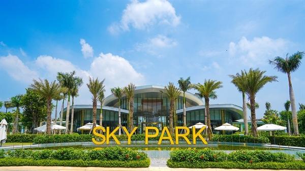 Khuôn viên công viên Gem Sky Park 3ha tại khu đô thị thương mại Gem Sky Worl tại Long Thành.