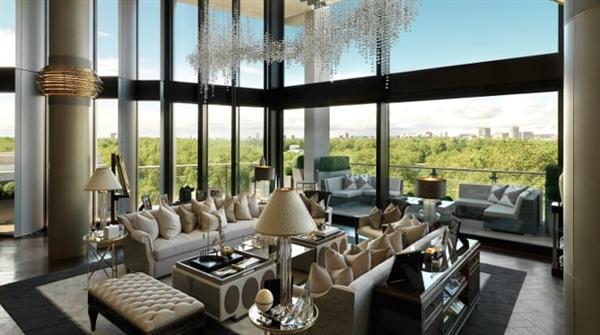 Bất chấp dịch bệnh, căn penthouse hàng hiệu trên đỉnh tòa nhà cao cấp One Hyde Park vẫn được chào bán với giá 247 triệu USD. Nguồn: C&C