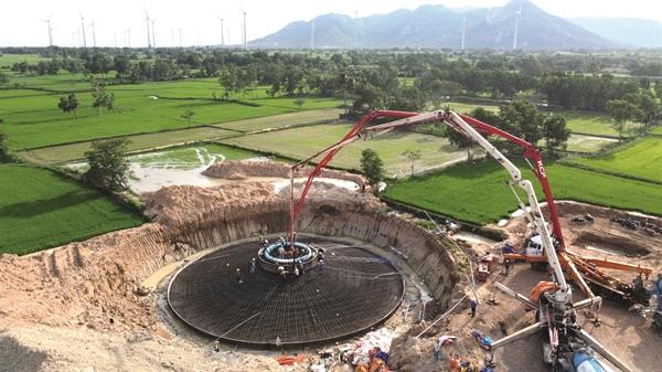 Dự án điện gió Lợi Hải 2 tại tỉnh Ninh Thuận.