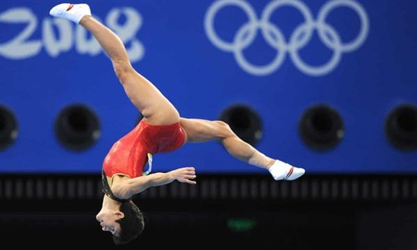 Vận động viên Oksana Chusovitina thi đấu cho Đức tại Thế vận hội Bắc Kinh năm 2008. Ảnh: AFP.