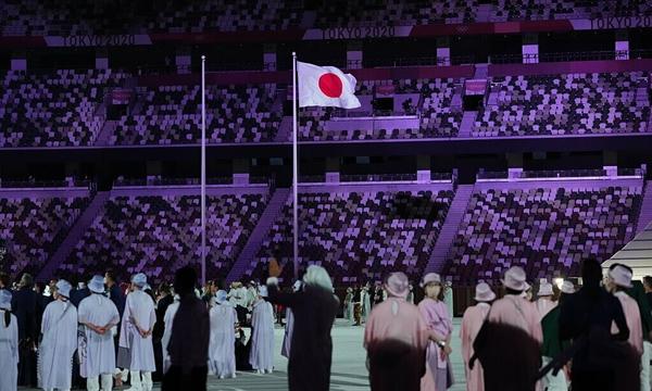 Lễ khai mạc Thế vận hội Tokyo 2020 không có khán giả vào ngày 23/7/2021. Ảnh: The New York Times.