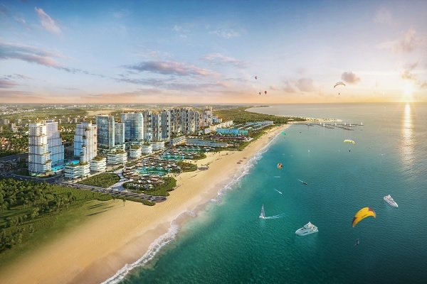 Thanh Long Bay sở hữu mặt tiền biển và hệ sinh thái hài hòa, mang lại trải nghiệm nghỉ dưỡng khác biệt