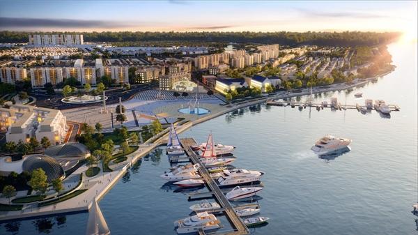 Tổ hợp quảng trường bến du thuyền Aqua Marina tại Aqua City dự kiến hoàn thiện vào quý 4/2021 kỳ vọng sẽ là điểm đến hấp dẫn và gia tăng trị BĐS nơi đây.