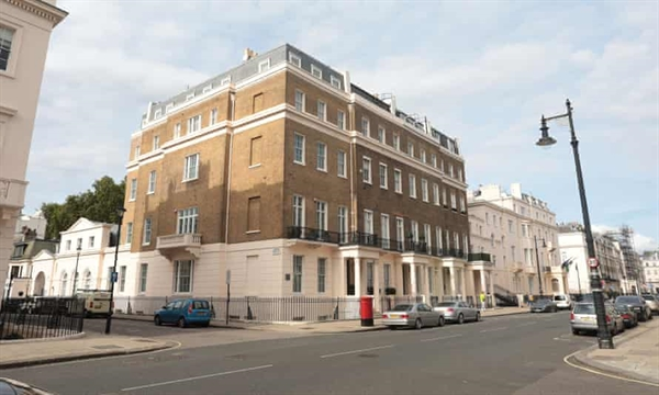 Vua Abdullah có một danh mục đầu tư gồm 7 bất động sản sang trọng ở Vương quốc Anh được mua từ năm 2003 đến năm 2011, trong đó có ba bất động sản ở Belgravia, London. Ảnh: The Guardian.