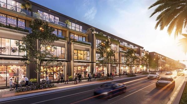 Shophouse thuộc phân khu Diamond Parkview đáp ứng nhu cầu đầu tư kinh doanh và an cư của cư dân Gem Sky World tương lai.