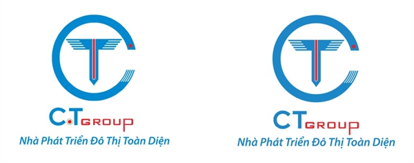 Old logo (left) and new logo (right) of CT Group.